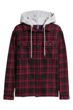 Dark red/Black checked